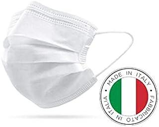 50 Mascherine CHIRURGICHE confezionate in flowpack a 10 pezzi - Tipo IIR BFE ≥ 99% Prodotte in Italia - Mascherina Italian...
