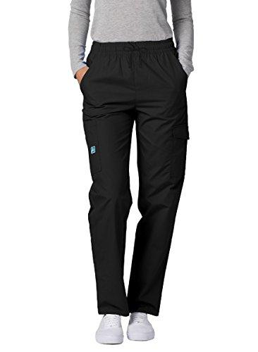 Adar Uniforms Medizinische Schrubb-Hosen - Damen-Krankenhaus-Uniformhose - 506 - Black - S