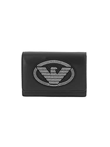 Emporio Armani Borsa tracolla logo mini Y3B086 YGE1X black/silver