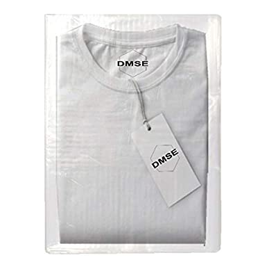 """DMSE T Shirt Flap Lock Poly Clear Plastic 1.5mil Clothing Merchandise Bags Pants 9 x 12""""/ 12 x 15"""" Inch for Shipping Easy to Pack and Close Multiple Sizes and Quantities Available"""