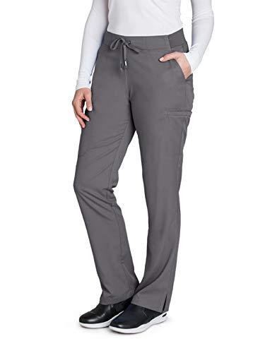 BARCO Grey'S Anatomy pantalón de 6 Bolsillos con Parte Frontal Plana para Mujer – pantalón de Uniforme médico de Ajuste Moderno, Granite, M