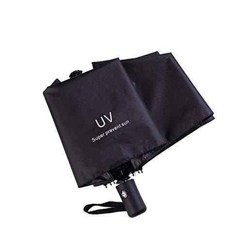 MAWA Plegable Anti-Paraguas Lluvia Mujer Hombre Grande a Prueba de Viento Revestimiento Negro sombrilla Regalo Parasol automático Coche de Negocios - Negro, a2