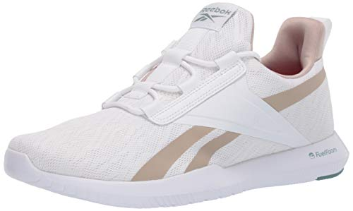 Reebok Women's REAGO Pulse 2.0 Cross Trainer, White/Modern Beige/Green Slate, 11 M US