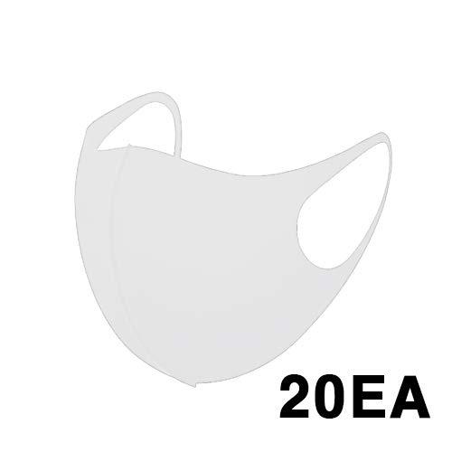 Trippig 3D-Maske, Weiß, 20 Stück