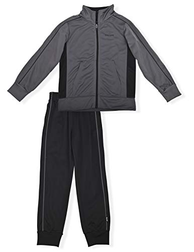 Spalding 2 Piece Kids and Teens Track Suit, Tricot Athletic Sweatsuit, Jacket and Pants Sports Set, 10-12 Years, Black