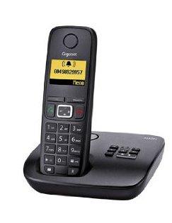 Gigaset AS320A / AS320 A Single mit Anrufbeantworter mit insgesamt 1 Mobilteil in schwarz