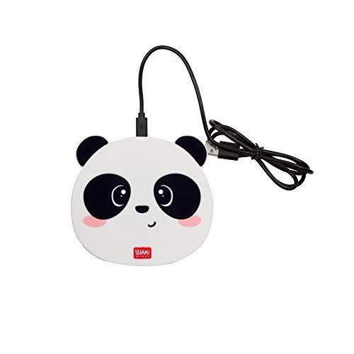 Legami Super Fast 40032431 Caricabatterie Wireless per Smartphone, Multicolore (Panda)