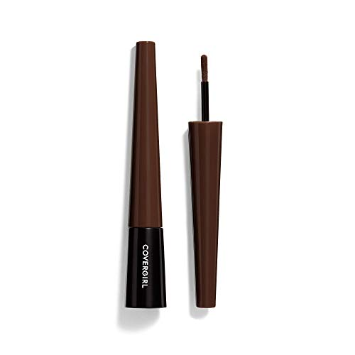 COVERGIRL Easy Breezy Brow Fill Plus Shape Plus Define Powder Eyebrow Makeup, Rich Brown, 0.024 Ounce (packaging may vary)