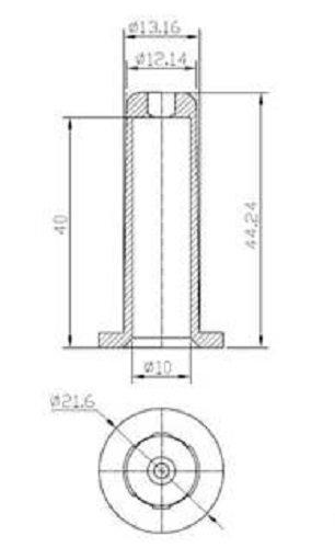 Stanley Hardware S846-380 V1758 Bed Frame Socket in White, 4 Pack