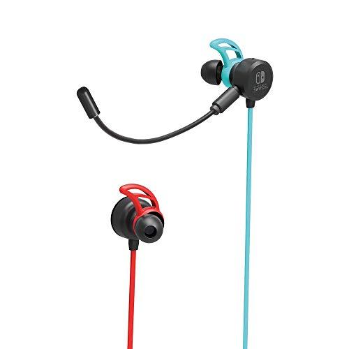 Hori - Auriculares Switch Azul/Rojo Neón (Nintendo Switch)