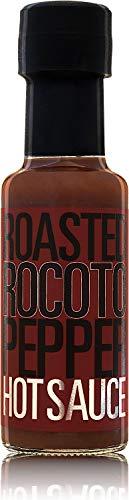 Roasted Rocoto Pepper Hot Sauce 125 ml   Salsa picante hecha con rocoto y tomate asados   Sin aditivos ni conservantes   Sin gluten   Apto para veganos