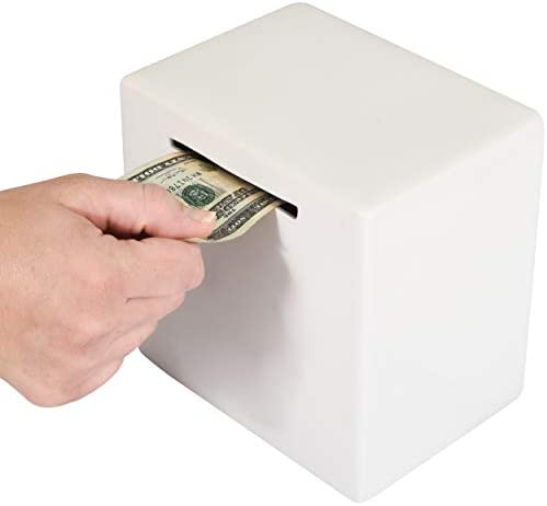 Piggy Bank for Adults Must Break to Access Money Ceramic Savings Bank to Help Budget and Save product image