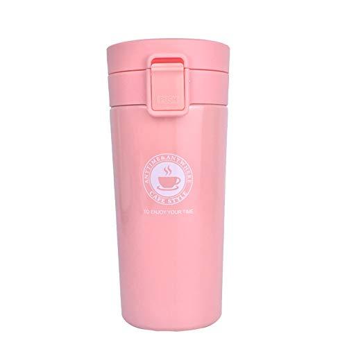 Vaso Termico Cafe Termo Taza Termica Viaje para Llevar Sin Bpa (Naranja Rosa)