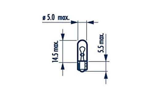 Narva–Fassung für Leuchtmittel 10x 17037W1,2W 12V, 1,2W, W2x 4,6d