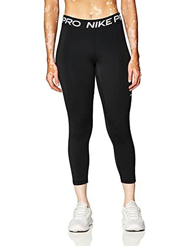 NIKE W NP 365 Tight Crop Leggings, Black/White, M Women's