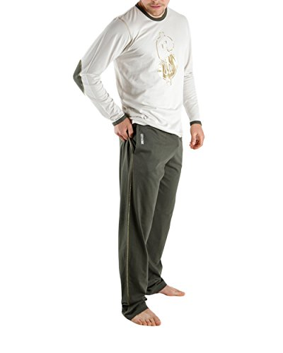 Udy Collection - Pyjama long Dollar - (Beige/L)