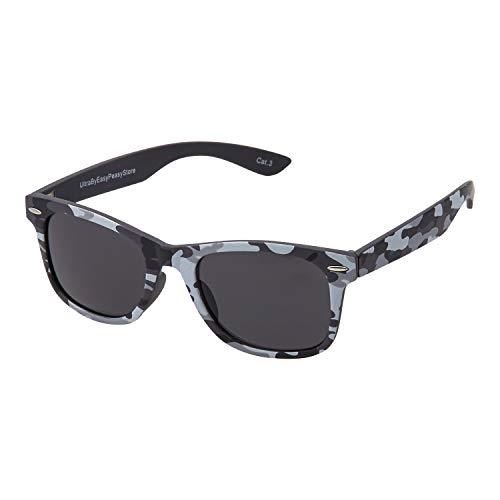 Ultra Camuflaje Gris Niños Gafas De Sol Clásicas Muchachas Con Protección UV400 UVA UVB Chicas Niño Retro Vintage Unisex Sombras