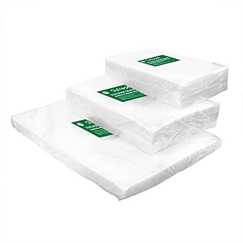 O2frepak 150 Bolsas (50)15x25cm y (50)20x30cm y (50)28x40cm Bolsas Envasar al Vaci Vacio Alimentos Bolsas de Vacío de Alimentos,Bolsas para Envasar al Vacío Envasado al Vacío para Alimentos Sin BPA