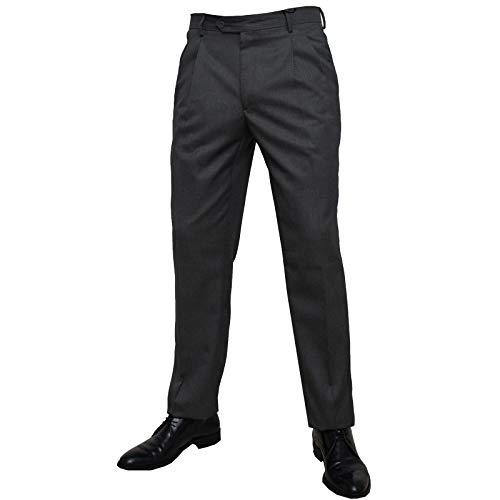 shop casillo Pantalone Uomo Classico Due Pence vigogna 46 48 50 52 54 56 58 60 (Antracite, 50)