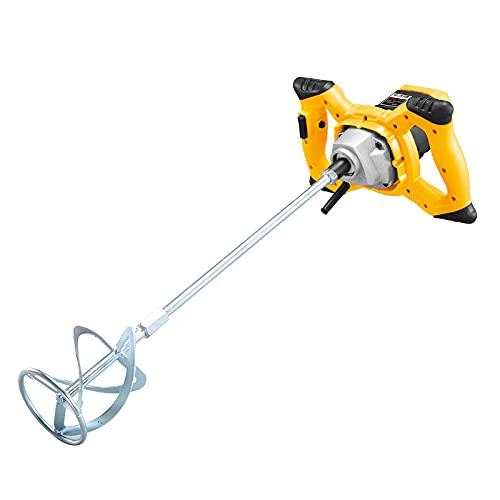 LONGRING Electric Paddle Mixer Drill, 220V 2400W Portable Cement Mixer, Idling Load 0-800R/Min, 6-Speed Adjustment Speed
