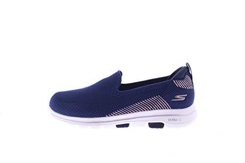 Skechers Women's GO Walk 5 - PRIZED Shoe, Navy, 7 M US
