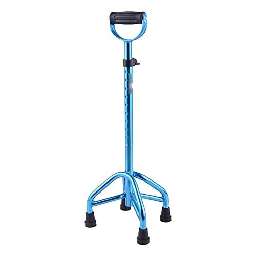 wsxc Bastones duraderos para Personas Mayores discapacitadas, bastón Resistente y Resistente Diseño ergonómico Muleta Antideslizante Mango en Forma de U Ajustable en Altura (Color : Blue) ⭐