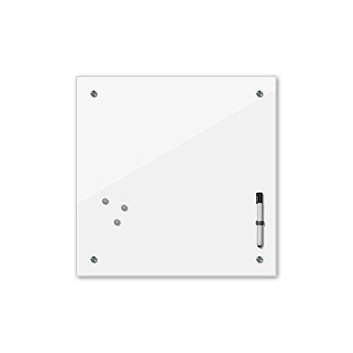 Bilderdepot24 Memoboard 40 x 40 cm, 24 Farben - weiß - Glas - Glasboard - Glastafel - Magnetwand - Pinnwand - Mehrzwecktafel Farbton - Grundfarbe - einfarbige Schreibtafel