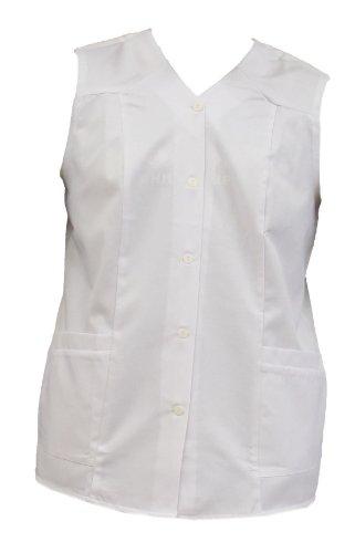 Tobeni 4408 Hosenkasack Mischgewebe ohne Arm Weiss oder farbig, Farbe:Weiss;Größe:44