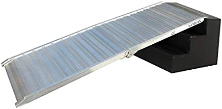 WORHAN® Rampa de Carga 400kg Rigida Robusta Plegable Plataforma Silla de Ruedas Aluminio Superficie Ultra