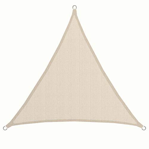 AMANKA UPF50+ UV Sonnensegel 2x2x2 Polyester Dreieck Wasserabweisend Wetterfest Garten Balkon Beige