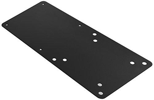 ICY BOX IB-MSA103-VM Halterung für Mini PC Intel NUC bis 3 kg, Montage an Monitorständer (VESA 75x75/100x100), Stahl, schwarz