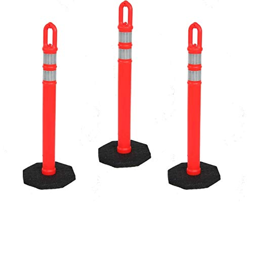 Traffic Delineator 42 Inch Post Bands Reflective Bargain with Base At the price Two