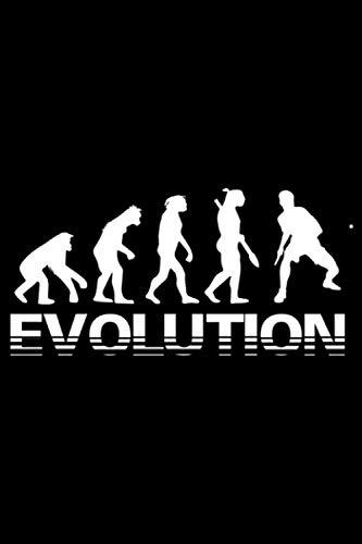 Evolution Table Tennis: A5 Liniertes Notizbuch auf 120 Seiten - Tisch tennis Notizheft | Geschenkidee für Tischtennisspieler, Fan, Trainer und Coach