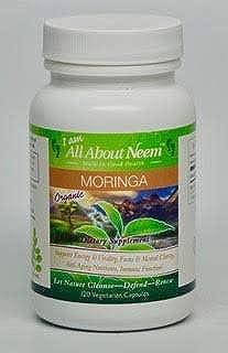 Moringa Leaf Capsules Organic American Grown 400 mg 120 Ct Energy & Metabolism Booster Made in America