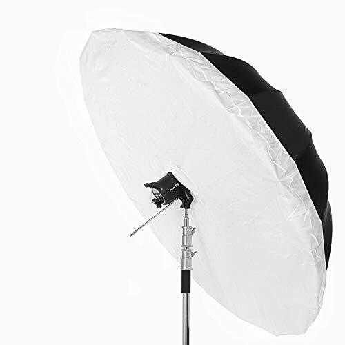 Difusor de softbox de 130 cm, color blanco, cubierta de tela estroboscópica para estudio de fotografía y fotografía (paraguas y...