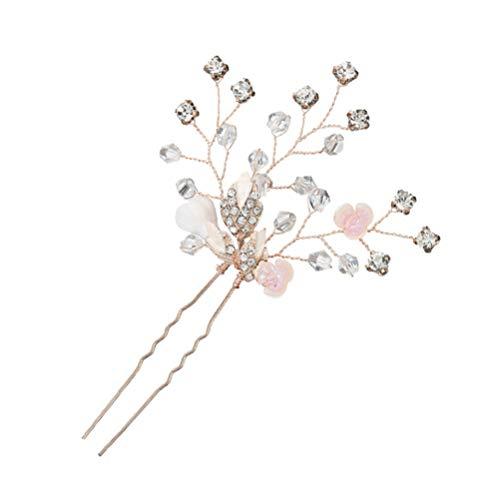 ABOOFAN Horquilla de Cristal Brillante de Aleación de La Novia para El Pelo de La Novia Tocado de Novia
