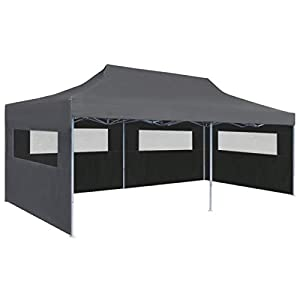 BNT Flamingo Carpa Plegable Pop-up con Paredes Laterales 3x6 m Antracita