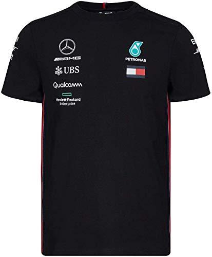 Official Formula One Merchandise | Männer | Offizielle Mercedes-AMG Petronas Motorsport 2019 F1™ | Team T-Shirt | Schwarz | Baumwolle und Elestan | Größe: XS