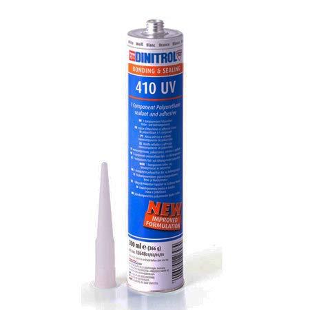 REJEL Dinitrol 410 Blanc Spoiler de fixation adhésif Colle réparation de corps Trim Tube 310 ml