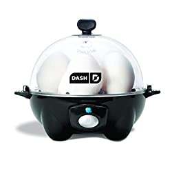 top rated DASH black Soft-boiled egg, poached egg, scrambled egg, high-speed electric 6-bowl cooker for omelets … 2021