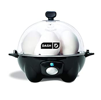 Dash Rapid Egg Cooker  6 Egg Capacity Electric Egg Cooker for Hard Boiled Eggs Poached Eggs Scrambled Eggs or Omelets with Auto Shut Off Feature - Black  DEC005BK