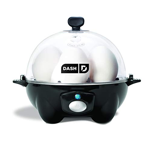 Dash Rapid Egg Cooker: 6 Egg Capacity Electric Egg Cooker for Hard Boiled Eggs, Poached Eggs, Scrambled Eggs, or Omelets with Auto Shut Off Feature - Black (DEC005BK)