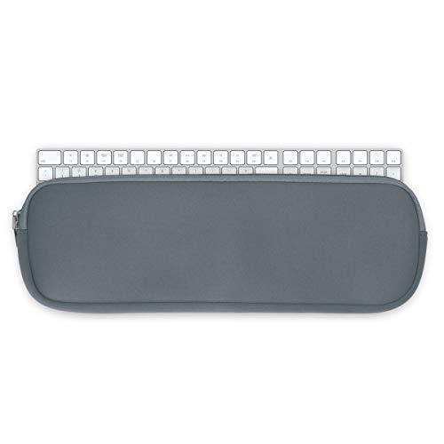 kwmobile Funda Universal Compatible con Teclado Apple Magic Keyboard con Teclado numérico - Estuche con Cremallera - en Gris