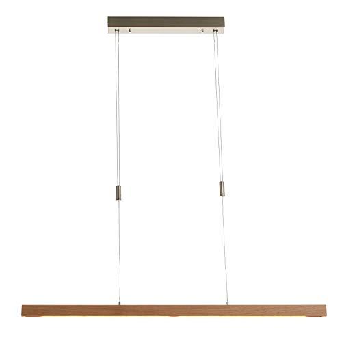 LED Lámpara colgante 'Nora' (Moderno) en Marrón hecho de Madera e.o. para Salón & Comedor (A+) de Lucande   lámpara colgante de madera, lámpara colgante, lámpara, lámpara de techo, lámpara de techo