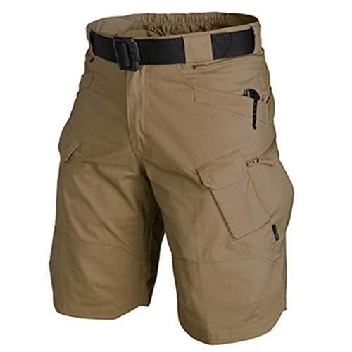 Chuanhao Pantalones cortos 2021 para hombre mejorados, de verano, de secado rápido, antidesgarros, transpirables, para trabajo, cámping, tácticos