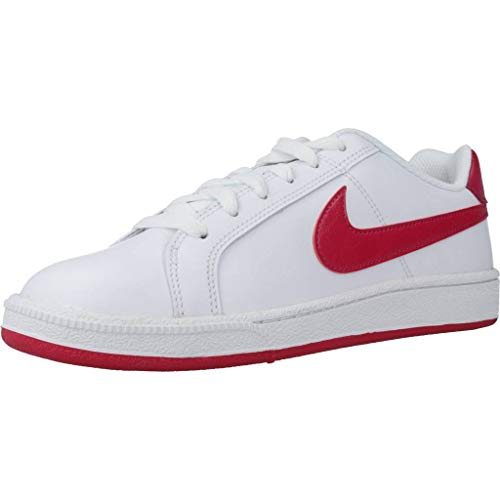 Nike Wmns Court Royale, Zapatillas de Tenis Mujer, Blanco (White/Wild Cherry/Noble Red 119), 36.5 EU