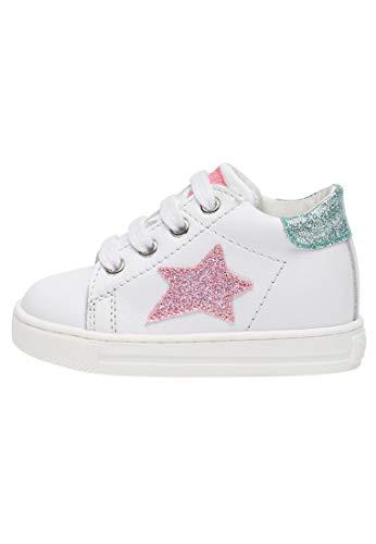 Falcotto Sasha-Sneaker con Dettagli Glossy-Bianco-Rosa Bianco 20