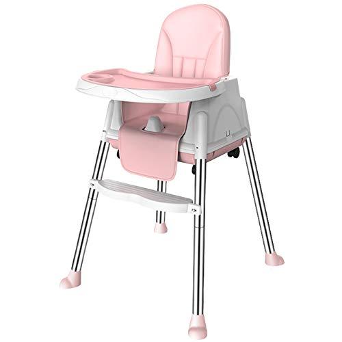 Trona para bebé – Cinturón de 3 piones y altura ajustable para niños, trona para bebés, silla para bebés, trona combi con bandeja para comida y pies antideslizantes, 6 meses - 3 años, 90 x 65 x 65 cm