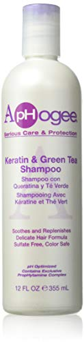 Aphogee Keratin and Green Tea 12-ounce Shampoo, 12 Ounce
