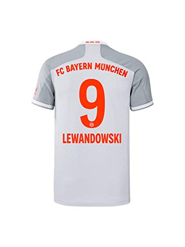 FC Bayern München Herren Away-Trikot Auswärts Saison 2020/21, Gr. M, Robert Lewandowski